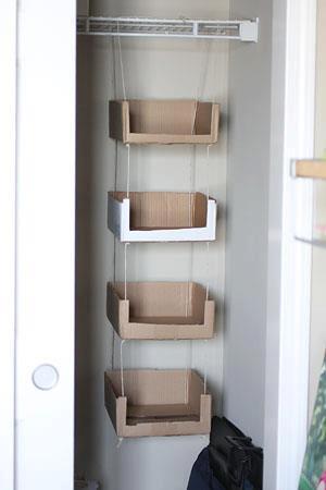 armario improvisado de carton