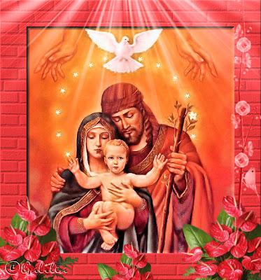 Resultado de imagen para sagrada familia caricatura