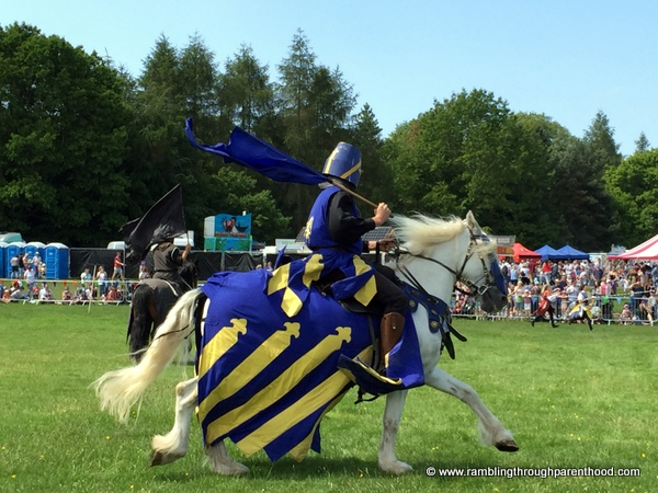 Medieval Knights jousting in the Arena at Geronimo