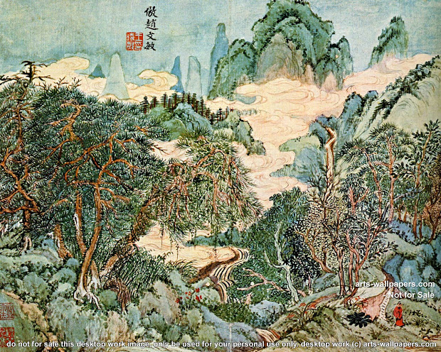 Chinese Art Painting Desktop Backgrounds