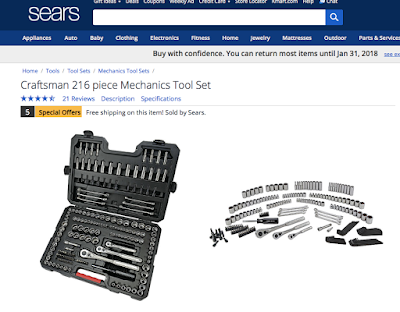 sears craftsman tool set