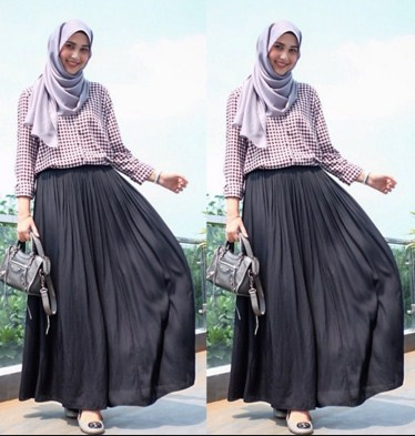 Hijab Dengan Rok Lebar
