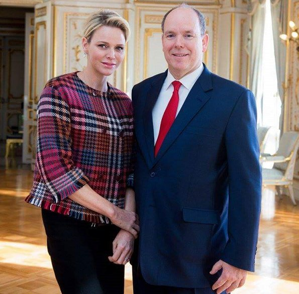 Prince Albert II and Princess Charlene attended the celebration of the Sainte-Devote in Monaco