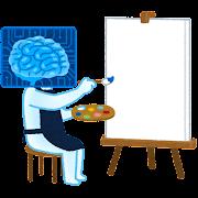 絵を描く人工知能のイラスト
