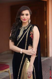 Priyanka Ramana in Beautiful Designer Black Saree At We Craft Elegance Expo Launch 055.JPG