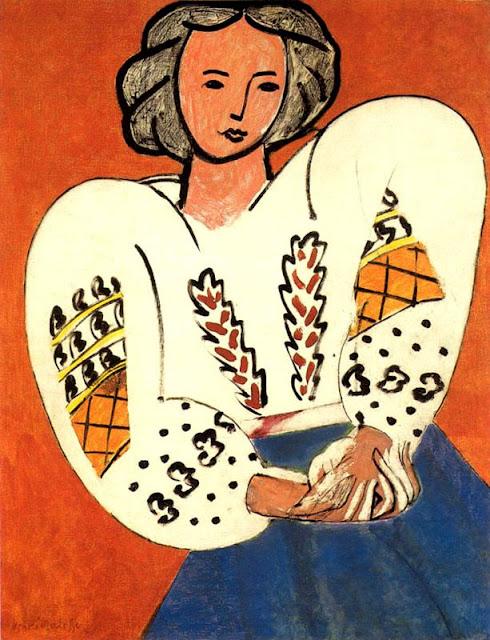 """Henri Matisse """"Bluzka rumuńska"""" (1940) Musée National d'Art Moderne Paris"""