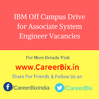 IBM Off Campus Drive for Associate System Engineer Vacancies