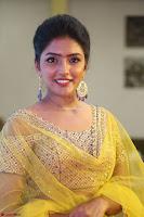 Actress Eesha in Yellow Choli Blue Ghagra at Darshakudu music launch 010.JPG