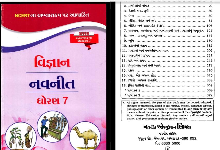 NCERT Science Navneet STD 7 Full book PDF download