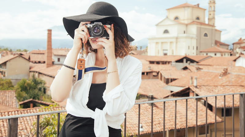 Lady Taking Pictures HD