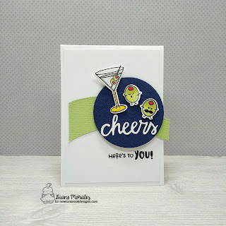 Cheers to You a card by Diane Morales   Cocktail Mixer Stamp Set by Newton's Nook Designs