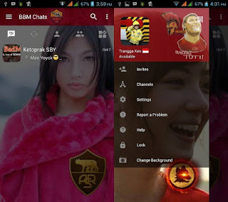 BBM Change Background with AS Roma