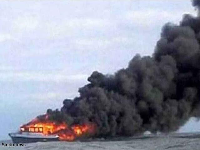 Kapal KM Fungka Permata V Terbakar, Sedikitnya 13 Tewas