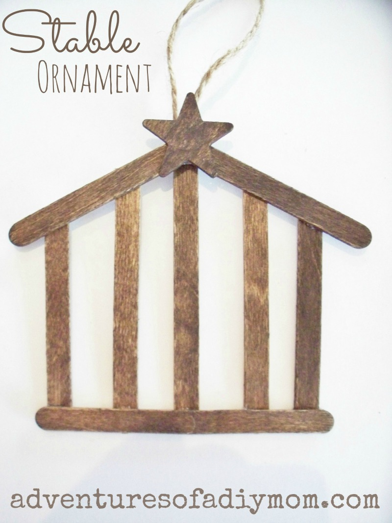 How to make a stable ornament nativity ornament series for Nativity crafts to make