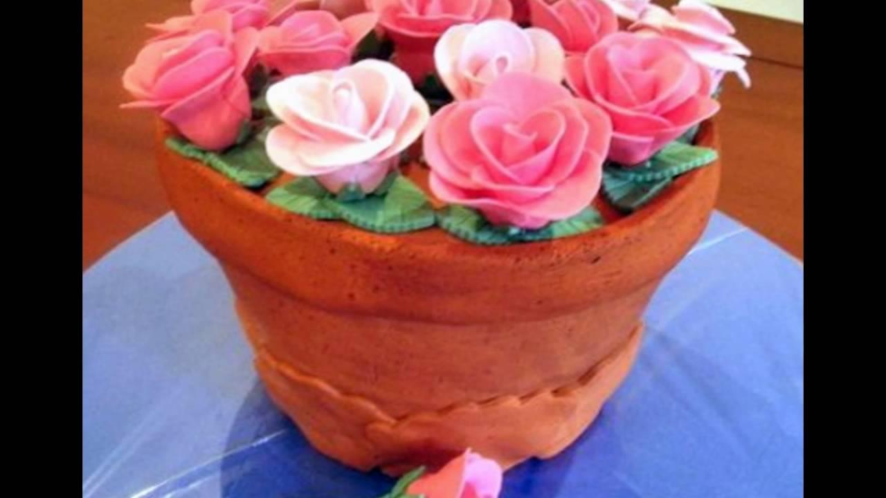 Resep Kue Pot Bunga, Flowers Pot Cake
