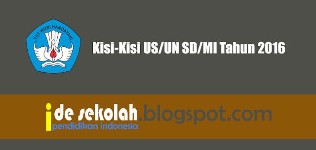 Kisi-Kisi US/UN SD/MI Tahun 2016