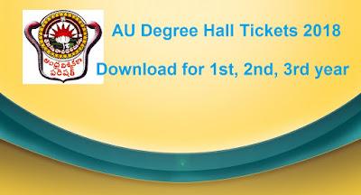 Manabadi AU Degree Hall Tickets 2018 Download, Schools9 Andhra University Degree Hall Tickets 2018