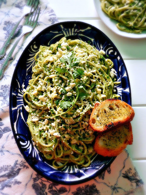 Espagueti Verde - lacocinadeleslie.com