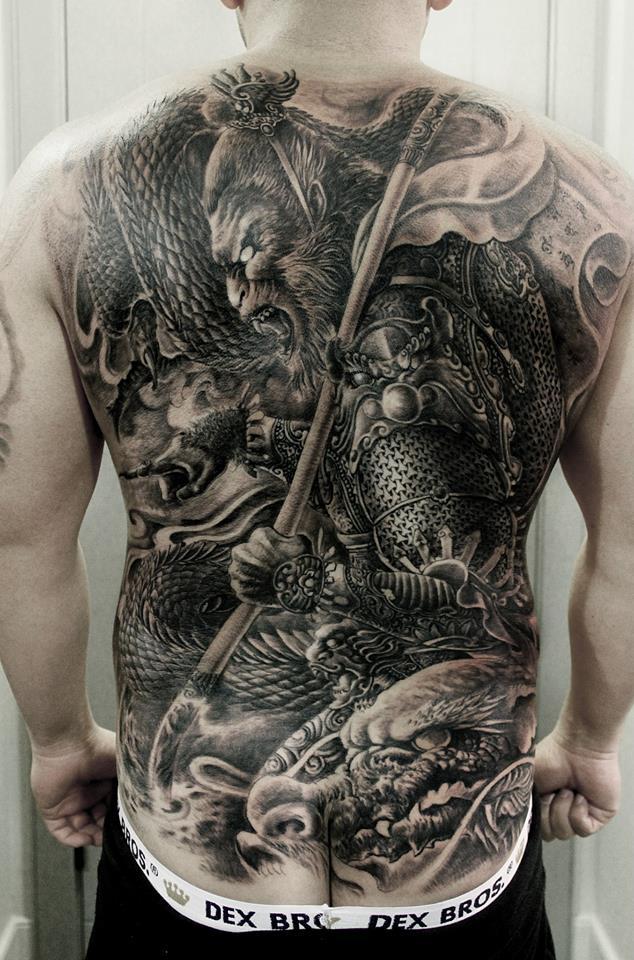 Hailin Fu Tattoo In Los Angeles Califiornia