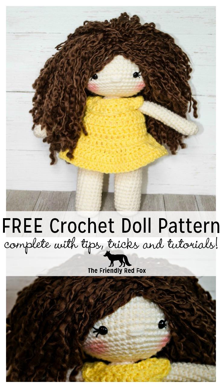 Free Crochet Doll Pattern Thefriendlyredfoxcom