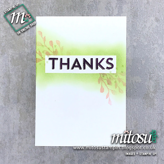 Notes of Kindness Stampin' Up! Alternative Card Idea. Order cardmaking materials from Mitosu Crafts online shop 24/7