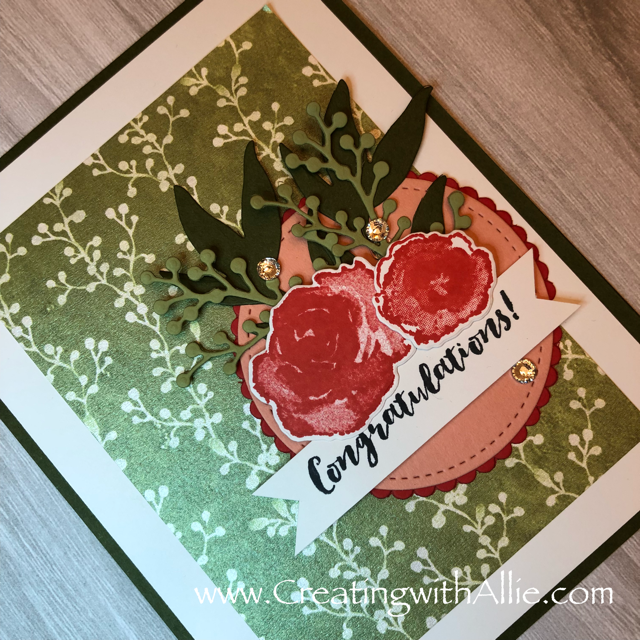 Check out the video tutorial showing you how to make a quick and easy card, where I show you tips and tricks for using Stampin Up's First Frost Bundle!  You'll love how quick and easy this is to make!  www.creatingwithallie.com #stampinup #alejandragomez #creatingwithallie #videotutorial #cardmaking #papercrafts #handmadegreetingcards #fun #creativity #makeacard #sendacard #stampingisfun #sharewhatyoulove #handmadecards #friendshipcards