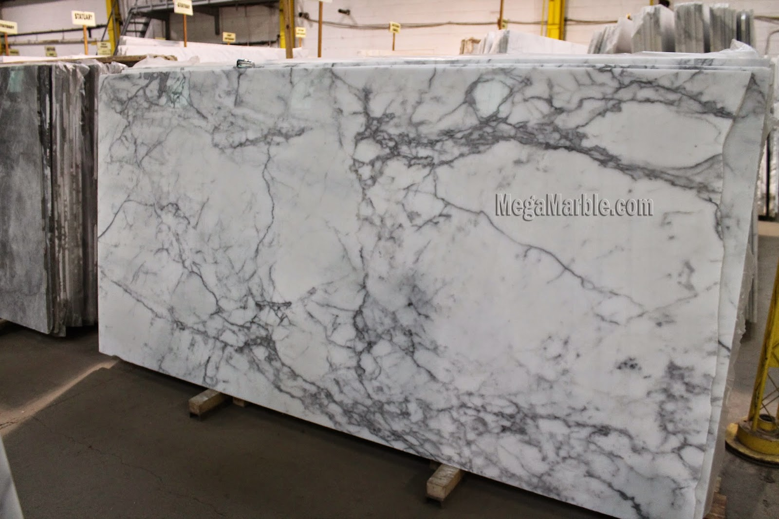 Statuary Marble Slab Natural Stone Marble Slabs 3/4