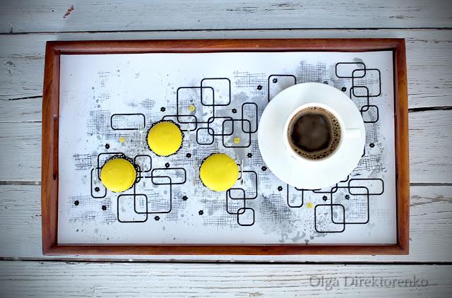 Coffee & Macaron Layout | by Olga Direktorenko