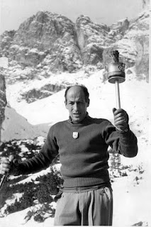 Colò was Italy's torch bearer at the 1956 Olympics despite being banned