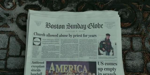 portada del Boston Globe con el reportaje publicado