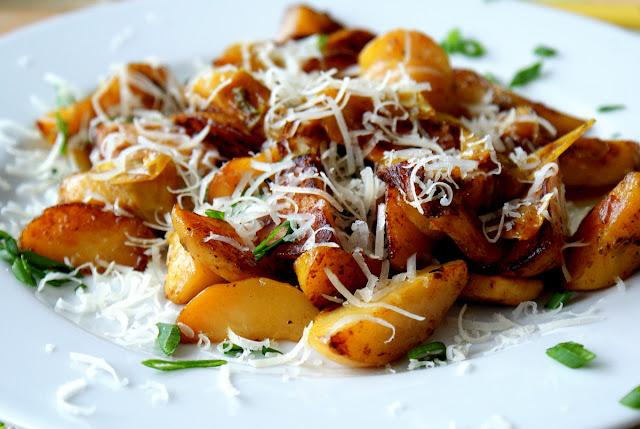 skworcu karahi chicken masala,skworcu olej kokosowy,skworcu sól himalajska różowa, skworcu pieprz ziołowy,młode ziemniaczki,ziemniaki z piekarnika,dodatek do obiadu,parmezan,