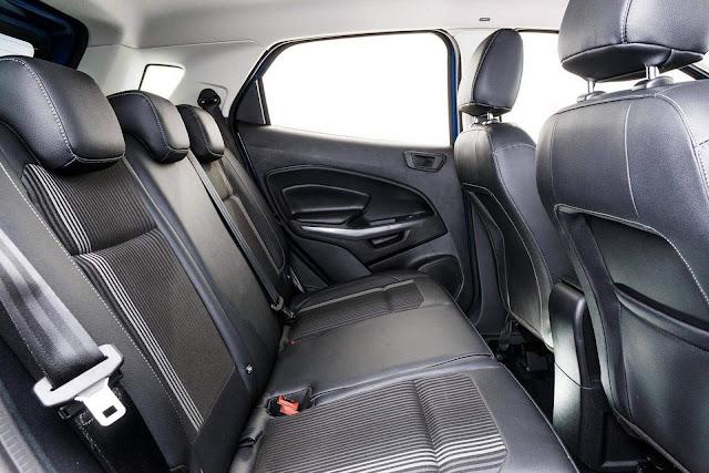 Novo Ford EcoSport 2018 - espaço traseiro
