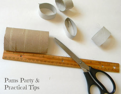 Cutting TP tubes in 1 inch pieces