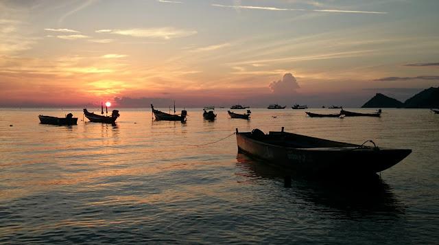 サイリービーチの夕日