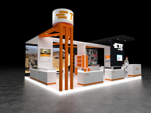 Desain Booth Pameran TE Connection