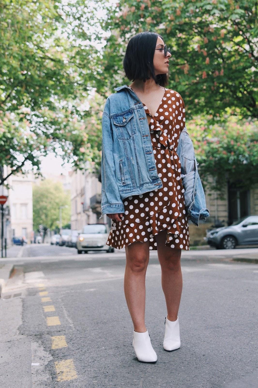 robe à pois tendance
