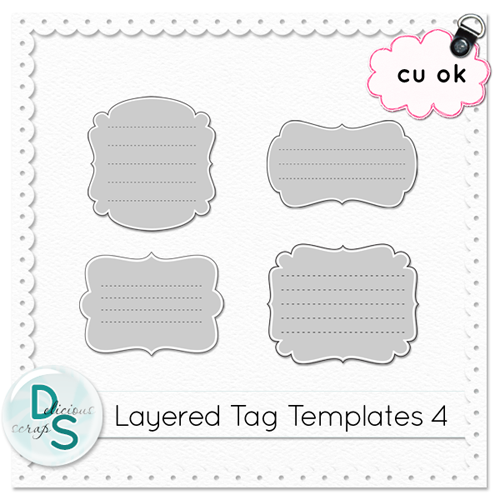 Delicious Scraps: • New CU Layered Tag Templates & Free CU Tag Template •