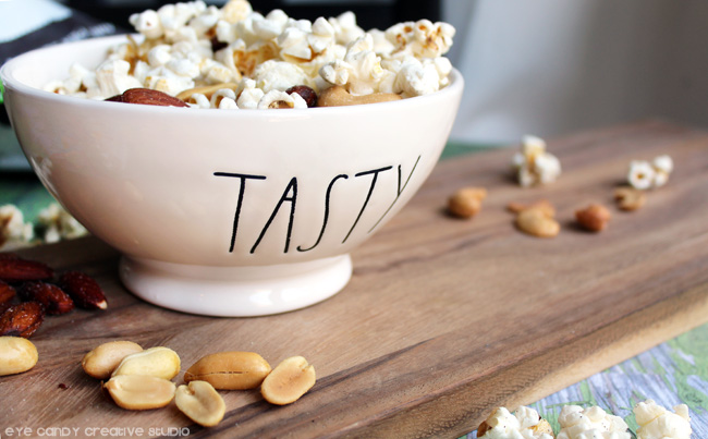 popcorn and peanuts combo, organic snack ideas, simple truth, tasty