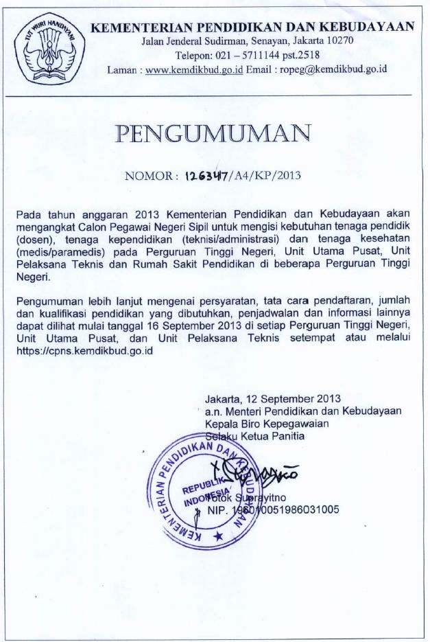 Penerimaan Dosen 2013 Informasi Lowongan Kerja Loker Terbaru 2016 2017 Posted By Nadton Hermawan On Sabtu September 14 2013