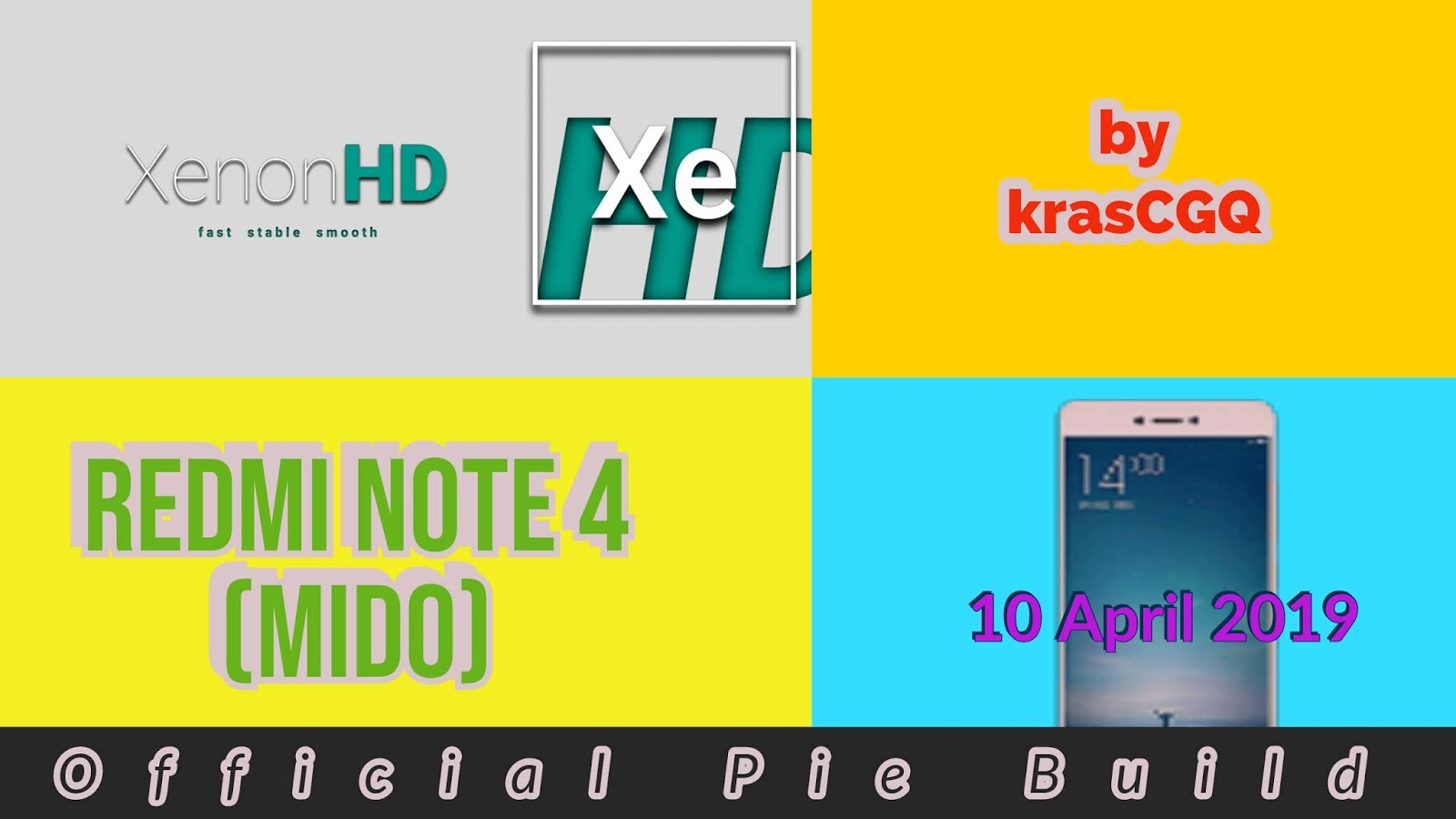 Official XenonHD Pie Build for Redmi Note 4 (Mido) by