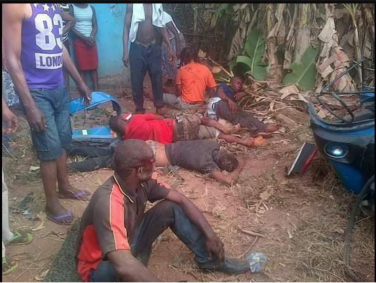 Graphic: Hilux rams into keke tricycle, kills final year student, 4 others in Imo State