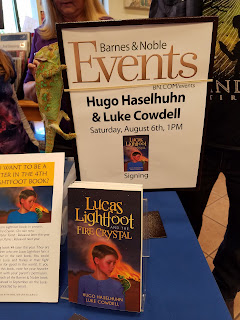 Lucas Light Foot Book signing