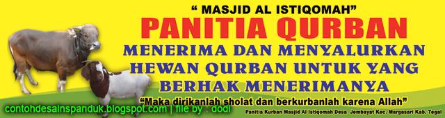 Contoh Spanduk Ajakan Qurban - desain banner kekinian