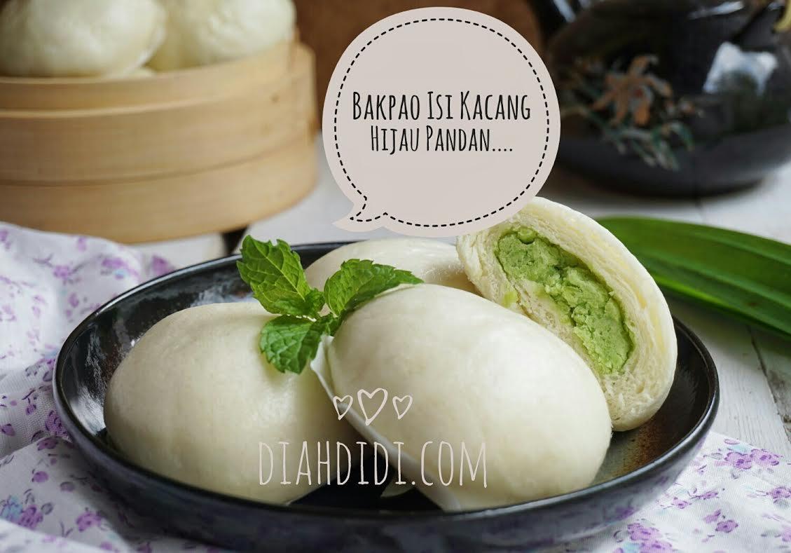 Diah Didi S Kitchen Bakpao Isi Kumbu Kacang Hijau Pandan