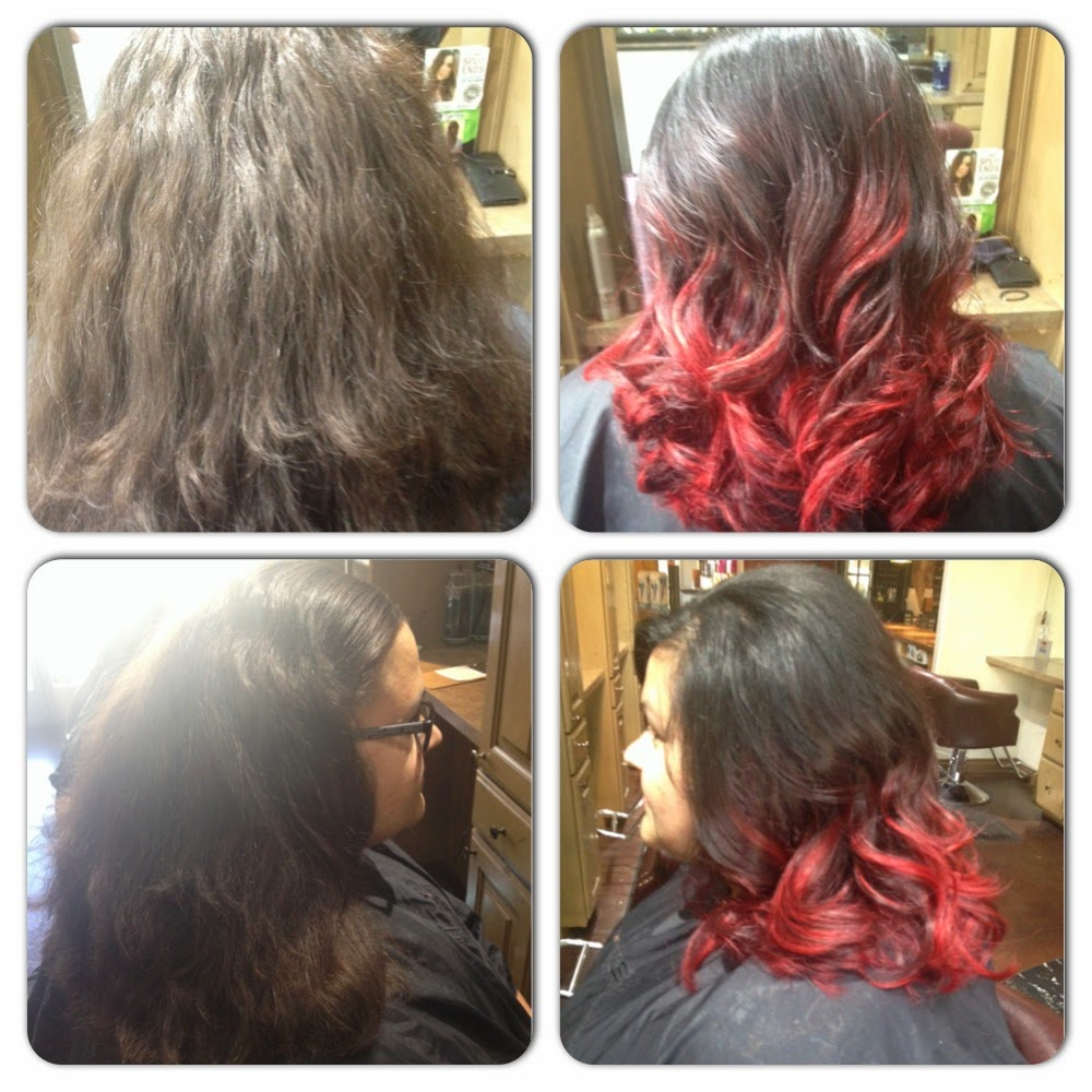 Red to Brown Ombre