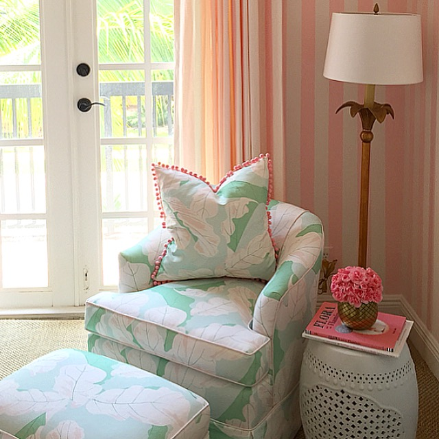 A Glamorous Pink And Green Nursery Inspired By The Beverly Hills Hotel And  Vintage Miami Beach   The Glam Pad