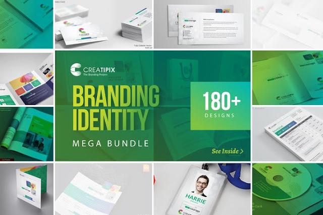 180 حزمة هوية العلامة التجارية الضخمة الإبداعية  - بلال ارت