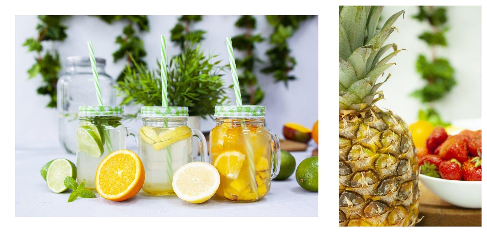 7 owoce sezon na lemoniadę browin jak zrobić pyszne napoje deser pomysły na przekąski na urodziny wakacje przyjęcie lato słoiki duży słój z kranem na lemoniadę słoiki ze słomką z uchem sklep gdzie kupić łódź