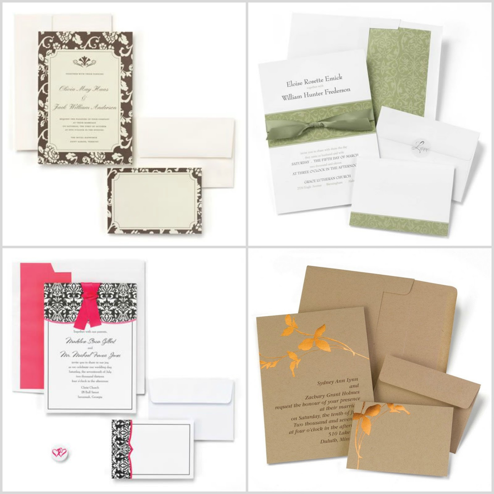 wherebridesgo wedding invitation kits