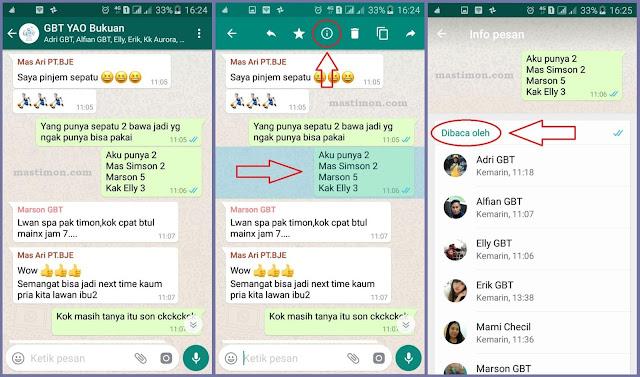 Cara melihat orang yang sudah membaca status kita di GROUP WA (WhatApp)